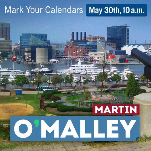 Martin O'Malley 30 05 15