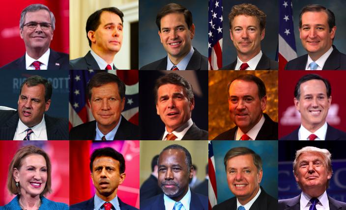 Candidats républicains 18 07 15